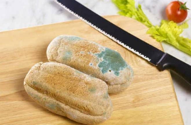 магазинный хлеб с плесенью